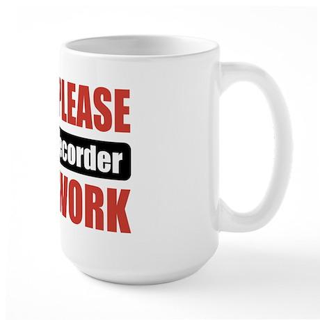 Sound Recorder Work Large Mug