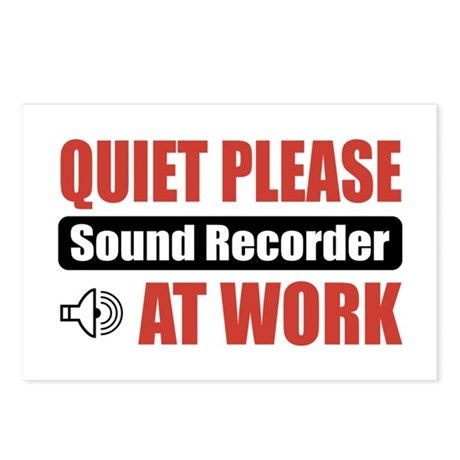 Sound Recorder Work Postcards (Package of 8)