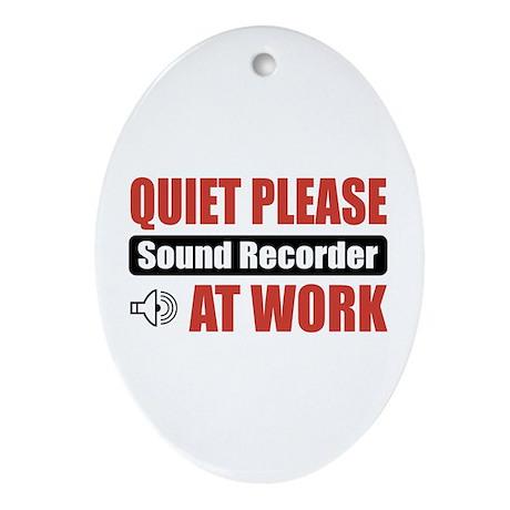 Sound Recorder Work Oval Ornament