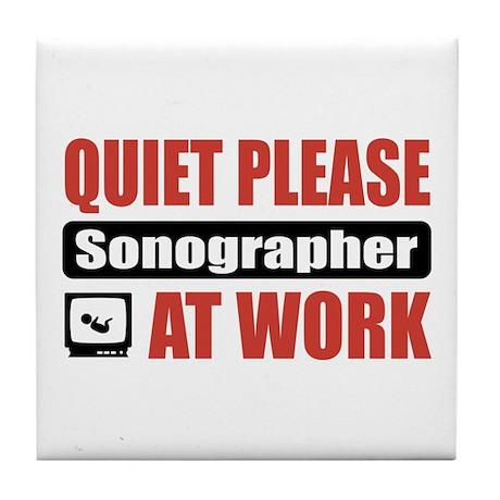 Sonographer Work Tile Coaster