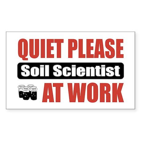 Soil Scientist Work Rectangle Sticker