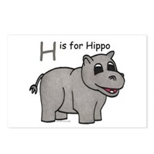H is for Hippo Postcards (Package of 8)