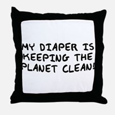 My Diaper... Throw Pillow
