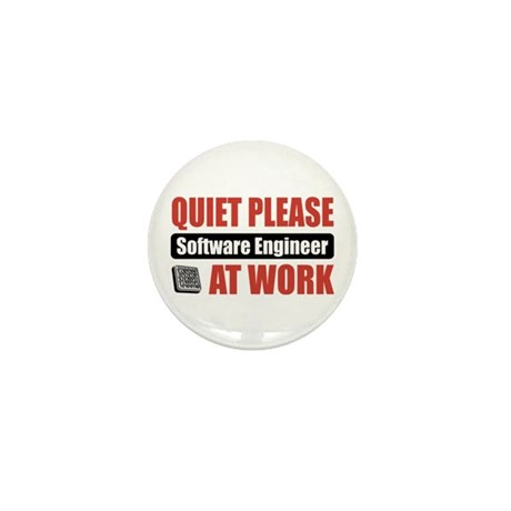Software Engineer Work Mini Button