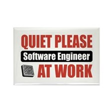 Software Engineer Work Rectangle Magnet