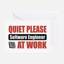 Software Engineer Work Greeting Card
