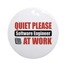 Software Engineer Work Ornament (Round)