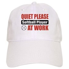 Softball Player Work Baseball Cap