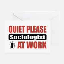 Sociologist Work Greeting Cards (Pk of 20)