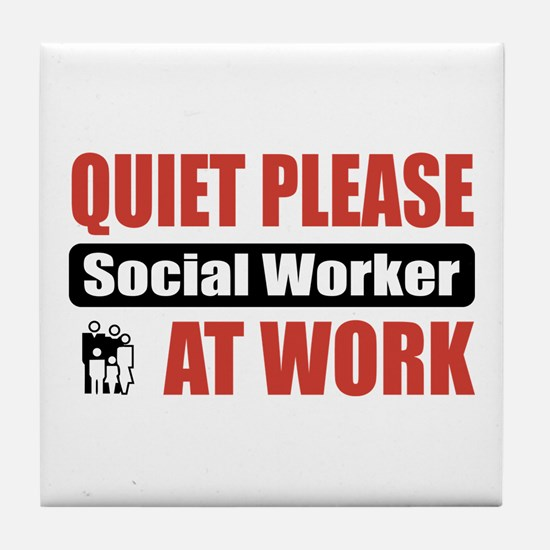 Social Worker Work Tile Coaster