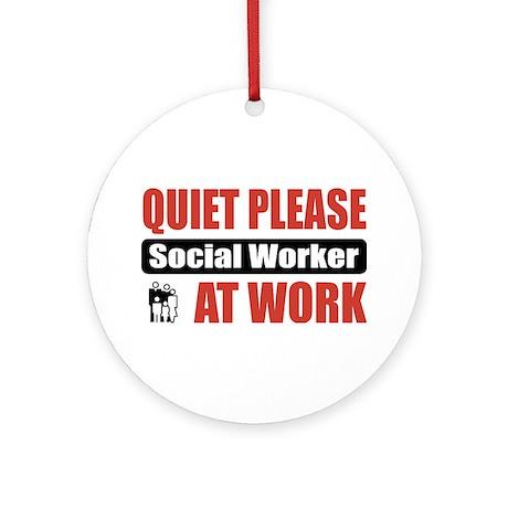 Social Worker Work Ornament (Round)