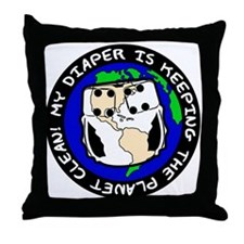 Keeping the Planet Clean... Throw Pillow