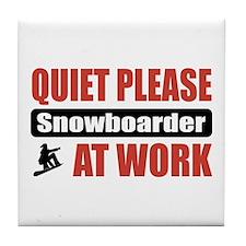 Snowboarder Work Tile Coaster