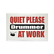 Drummer Work Rectangle Magnet