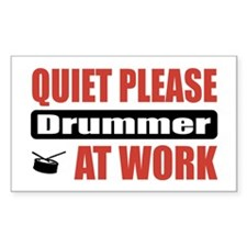 Drummer Work Rectangle Decal