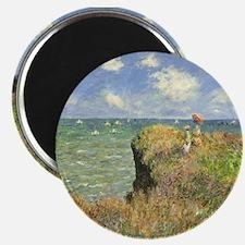 """Claude Monet, Cliff Walk at Pourville 2.25"""" Magnet"""