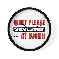 Skydiver Work Wall Clock