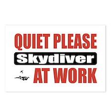 Skydiver Work Postcards (Package of 8)