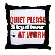 Skydiver Work Throw Pillow