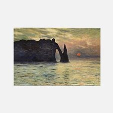 Claude Monet, Cliff Etretat Sunset Rectangle Magne