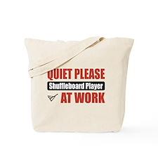 Shuffleboard Player Work Tote Bag