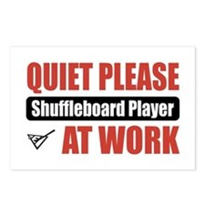 Shuffleboard Player Work Postcards (Package of 8)
