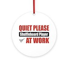 Shuffleboard Player Work Ornament (Round)