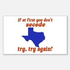 Secede Rectangle Decal