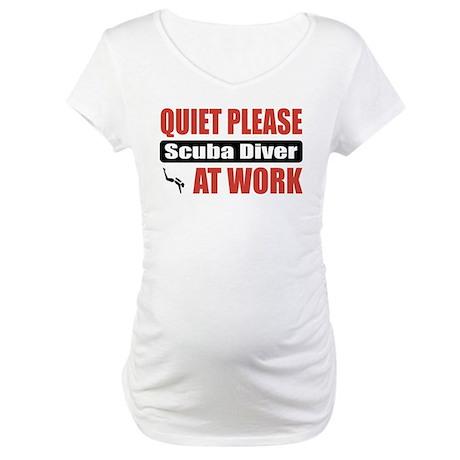 Scuba Diver Work Maternity T-Shirt