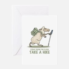 Hiking Sheep Greeting Card
