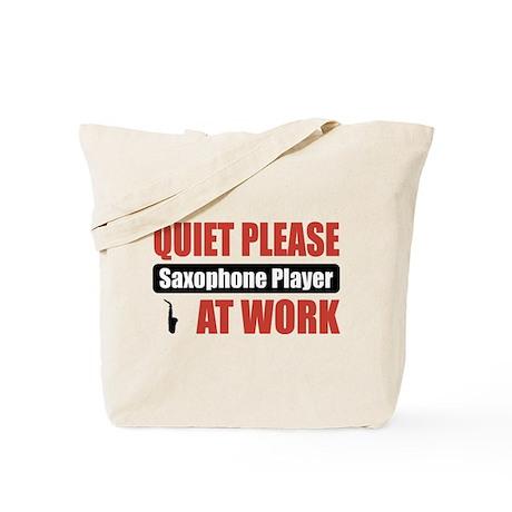 Saxophone Player Work Tote Bag