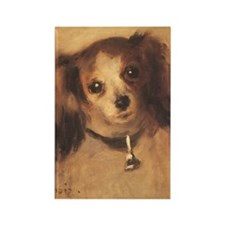 Renoir Head of a Dog Rectangle Magnet (10 pack)