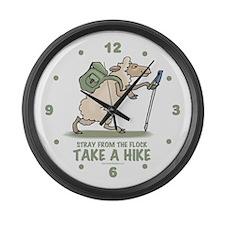 Hiking Sheep Large Wall Clock