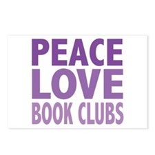 Peace Love Book Clubs Postcards (Package of 8)