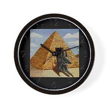 Egyptian Doghouse Wall Clock
