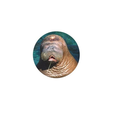 Walrus Eyes Closed Mini Button