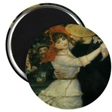 """Dance at Bougival by Renoir 2.25"""" Magnet (10 pack)"""