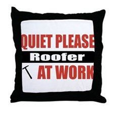 Roofer Work Throw Pillow