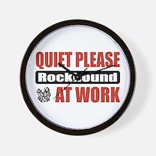 Rockhound Work Wall Clock