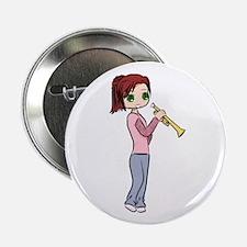 "Trumpet Girl 2.25"" Button"