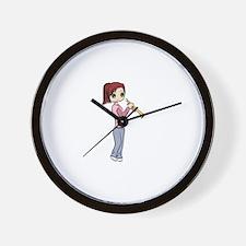Trumpet Girl Wall Clock