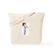 Trumpet Girl Tote Bag