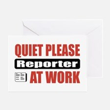Reporter Work Greeting Card