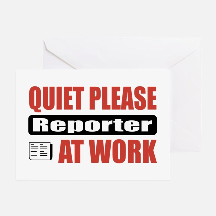 Reporter Work Greeting Card