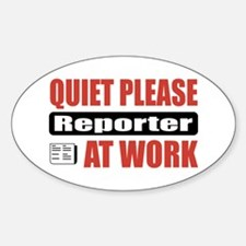 Reporter Work Oval Decal
