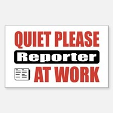 Reporter Work Rectangle Decal