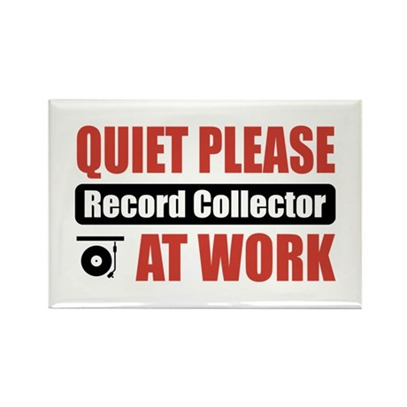 Record Collector Work Rectangle Magnet (10 pack)