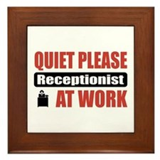 Receptionist Work Framed Tile