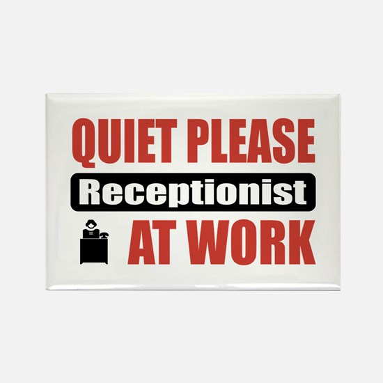 Receptionist Work Rectangle Magnet