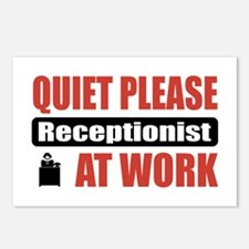 Receptionist Work Postcards (Package of 8)